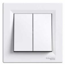 Выключатель 2-клавишный, белый - Schneider Electric Asfora