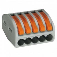 Клемма WAGO 222-415 на 5 проводов с нажимными рычагами